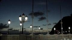 Caribbean Sunset seen from the Esplanade of Paseo de la Princesa Stock Footage
