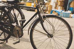 Vanha polkupyörän Japanissa Kuvituskuvat