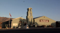 The Exterior of the Beatty Museum late Afternoon Nevada Stock Footage