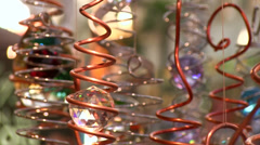 Crystal decoration spinning in cicrcles Stock Footage