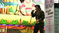 Elvis concert on Fremont Street Las Vegas Stock Footage