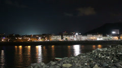 Panama City, Casco Viejo in the night Stock Footage