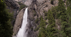 Lower Falls at Yosemite National Park 4k Stock Footage