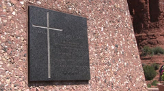 Plaque outside Chapel of the Holy Cross Stock Footage