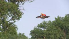 Country Stampede 2013 dirt bike jumps part 1 of 2 Stock Footage