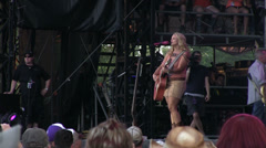 Miranda Lambert playing at 2013 Country Stampede Stock Footage