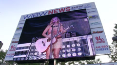 Miranda Lambert on WIBW News super screen Stock Footage
