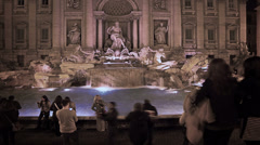 Time-lapse of Fontana di Trevi - stock footage