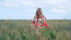 Pregnant woman expectant mother 003 Stock Footage