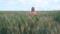 Pregnant woman expectant mother 002 Stock Footage