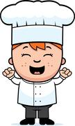 Child chef excited Stock Illustration