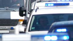 HD - Convoy of police. Close-up Stock Footage
