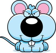 Cartoon sly baby mouse Stock Illustration