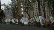 Stock Video Footage of Maidan clashes commemoration 05