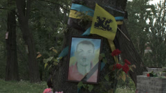 Stock Video Footage of Maidan clashes commemoration 06