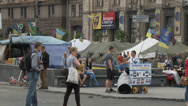 Stock Video Footage of Maidan clashes commemoration 15