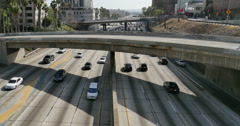 Freeway Traffic 30 LA Downtown - stock footage
