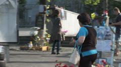Maidan clashes commemoration 01 Stock Footage