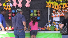 Carnival, County Fair, midway games Stock Footage