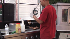 Carnival, County Fair, fully cooked chicken Stock Footage