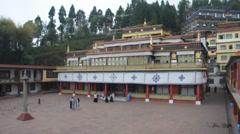 Buddhist monastery rumtek sikkim Stock Footage
