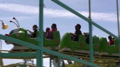 Carnival, County Fair, Green catapillar Stock Footage