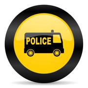 Police black yellow web icon Piirros