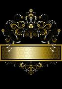 Stock Illustration of Original gold pattern for banner