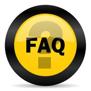 Stock Illustration of faq black yellow web icon