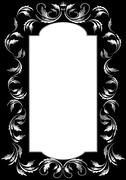 Stock Illustration of Classic silver frame in the Gothic style