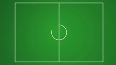 Animation of drawing the lines on the soccer field layout Stock Footage