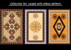 Collection for carpet - stock illustration