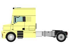 Tractor unit - stock illustration