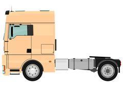 Tractor unit Stock Illustration