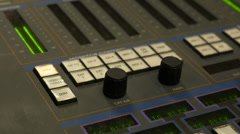 TV Studio Control Board Stock Footage