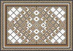Stock Illustration of Variegate geometric pattern for rug.