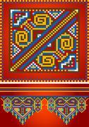 Stock Illustration of Ornament for red carpet