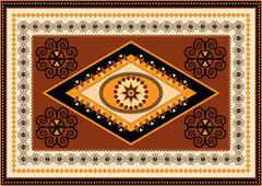 Stock Illustration of Decorative rug designs in oriental style