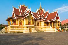 wat that luang tai in vientine, laos - stock photo