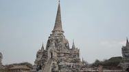 Stock Video Footage of Panning shot - Wat Phra Si Sanphet in Ayutthaya