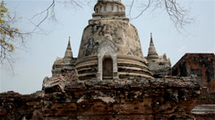 Wat Phra Si Sanphet Ayutthaya Stock Footage
