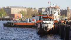 Tug boats Stock Footage