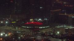 Houston Toyota Center Skyline Stock Footage