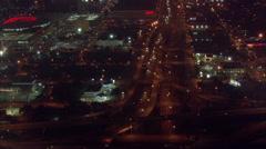 Aerial Houston Night Skyline Arkistovideo