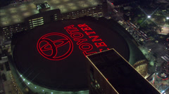 Toyota Center Fly Over Stock Footage