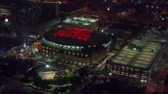 Toyota Center Aerial Zoom Stock Footage