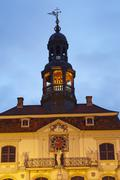lueneburg - town hall in the evening - stock photo
