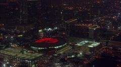 Houston Toyota Center Highway Stock Footage