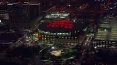 Toyota Center Skyline Stock Footage