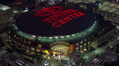 Toyota Center Aerial View Stock Footage